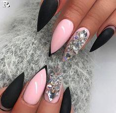 150 Gorgeous Glitter Stiletto Nail Art Design 2018 #PopularNailShapes