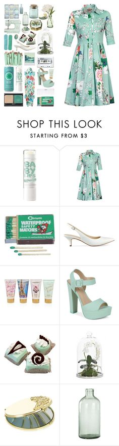 """""""In The Herb Garden"""" by transparentart ❤ liked on Polyvore featuring NARS Cosmetics, Jolie Moi, Marc Fisher, Conair, Forever 21, Call it SPRING, NDI, Katie, Retrò and PEONY"""
