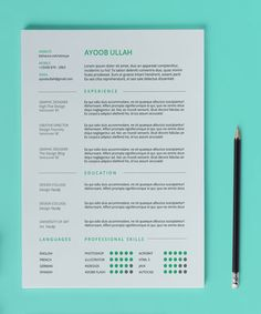 Resume Templates Indesign 10 Best Free Resume Cv Templates In Ai Indesign & Psd Formats
