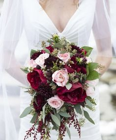 burgundy and pink bridesmaids bouquets - Google Search