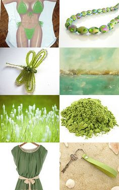 Summer in green - featuring shop TShirtHeavenNola by Marzena on Etsy--Pinned with TreasuryPin.com