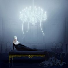 Ray Caesar Siren Archival chromogenic print mounted on Dibond, 2012 48 x 48 inches Edition of 20 Signed, numbered and dated lower right Madonna, Max Ernst, Ray Caesar, Gottfried Helnwein, Mark Ryden, Audrey Kawasaki, Arte Horror, Pop Surrealism, Illustrations