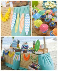 Surfin' Safari Surf themed birthday party via Kara's Party Ideas | KarasPartyIdeas.com #surfparty (3)