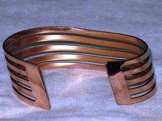 RENOIR Wave Copper Cuff Bracelet BR16 by delightfullyvintage, $45.00