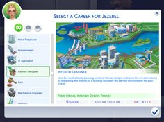 "midnitetech: "" Interior Design Career Suggested by the amazingly talented - sims 4 cc - Carreira Mods Sims, Sims 4 Game Mods, Sims Four, Sims 4 Mm Cc, Maxis, Sims 4 Jobs, Sims 4 Traits, The Sims 4 Packs, Casas The Sims 4"