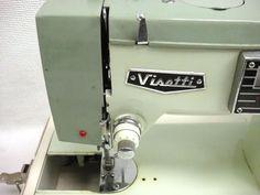 Vintage Visetti Super De Luxe Heavy-Duty ZigZag Sewing Machine w/ Case   eBay