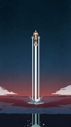 Iron Man 3 Retro Illustration iPhone 5 Wallpaper