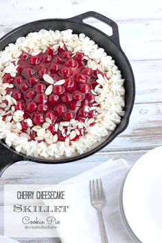 Cherry Cheesecake Skillet Cookie Pie @createdbydiane #CreativeHome
