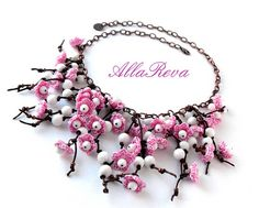 Image detail for -jewelry made of bead and crochet flowers - crafts ideas - crafts for ...