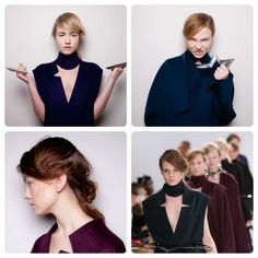 #YifangWan #AW13 at #LFW - dishevelled #ponytail #hairstyle created by #BillWatson and the #TONIANDGUY #SessionTeam