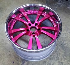 Pink wheels....on my black with the pink stripe Dodge Ram 1500 ;)