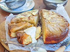 Because feijoa and apple seasons coincide, it seems only right to pop them both into one cake! They work well in this moist upside-down cake recipe from Nici Wickes