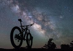 """presents the  N I G H T S C A P E R Photo Award to ... .  @outinthedark .  Cosmic ride… at Horsethief Campground, Dead Horse Point State Park, Utah. Congratulations to Mike Ross. That's a silhouette of Mike's Salsa Pony Rustler mountain bike against the Milky Way. EXIF: Taken on 4.22.2017 @ 4am with a Nikon D750, Rokinon 24mm f/1.4, 10 Sec @ f2.2, ISO 3200.    Please show support to our guest artists by visiting their IG gallery . .  SHOWCASE Your Photo Here: To have your """"Night Photography""""…"""