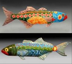 Blue Fish wall art by Cathy Crain