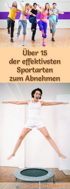 Über 15 effektive Sportarten zum Abnehmen: Sport zum Abnehmen ist eine beliebte Methode, um rasch und gesund nicht nur Fettpölsterchen loszuwerden, sondern ...