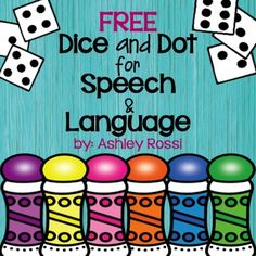 "Free: Target word-level articulation and language goals-No prep, all black & white speech therapy activities!All you need is dice and dot markers!Contents: Articulation: (Vocalic R, Initial R, R Blends) - 36 words per page!!Language: (Synonyms, Categories) - 36 per page!!*These are perfect for the elementary to middle school student who prefers not to have ""young looking"" clip art.This is a small sample for the full product here:Dice and Dot for Speech and LanguageIt has 50 pages of NO P..."