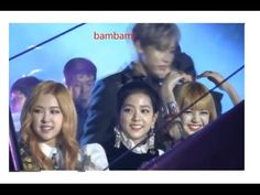 BLACKPINK Lisa and Bambam GOT7 meet at SBS Gayo Daejun - YouTube