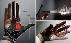 Hand Tech Glove for gesture controlled augmented reality