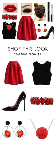 """Untitled #1599"" by sarah-michelle-steed ❤ liked on Polyvore featuring Zara, Christian Louboutin, Marni, SPANX and Chanel"