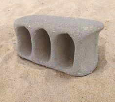 ladrillo erosionado por el mar