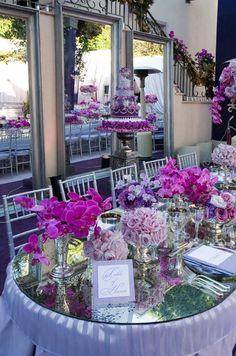 Outdoor Wedding, Purple, Violet, Glamorous Wedding, Formal, Evening, Real Wedding || Colin Cowie Weddings