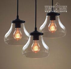 Westmenlights Three Globe Bowl Cluster Hanging Pendant Lighting modern kitchen Ceiling Pendant Lamp BILLY