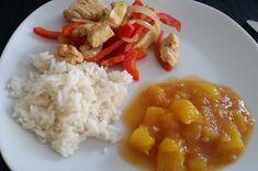 Paprika-Hähnchenpfanne mit Mangosauce, ein tolles Rezept aus der Kategorie Geflügel. Bewertungen: 72. Durchschnitt: Ø 4,4.