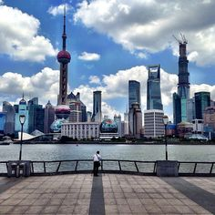 Walked along the famous Shanghai Bund in Pushi during the daytime.  Viewed it from across the Huangpu River in Pudong at night.