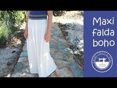 Falda larga estilo boho - YouTube