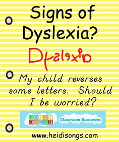 Signs of Dyslexia?