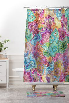 Stephanie Corfee Flourish Allover Shower Curtain And Mat | DENY Designs Home Accessories