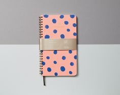 Polka Weekly Planner http://www.thefoxandstar.co.uk/collections/planners/products/coral-pink-polka-dot-weekly-planner