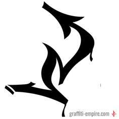 N Graffiti Letter Tag with dynamic lines #graffiti #letter