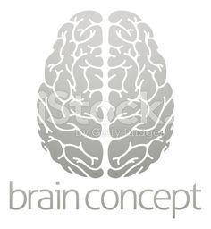 Human brain concept royalty-free stock vector art