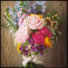 Beautiful bright natural bouquet