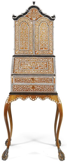 An Anglo-Indian ivory-inlaid rosewood bureau-cabinet on later stand, Vizagapatam, mid 18th century   Lot   Sotheby's.