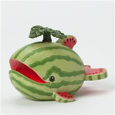 My new fave little guy ---Home Grown Watermelon Whale Figurine
