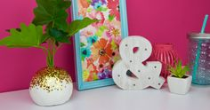 Finding DIYs to get us pumped for the upcoming season are what keeps me going. Ones like thisDIY Glitter Planter are perfect to make in an afternoon that you can use in your room or dorm for years to come.