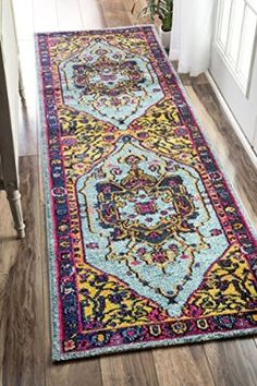 "Traditional Vibrant Vines Ornamental Multi Runner Area Rugs, 2 Feet 6 Inches By 8 Feet (2' 6"" x 8')"