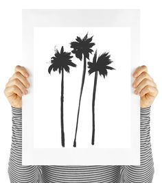 Modern art palm tree print digital download by MyDaisyDownloads