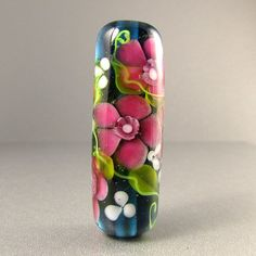 Wild Rose.....Handmade Glass Bead by Highland by HighlandBeads