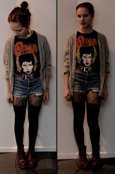 Shorts with tights, can't get enough.