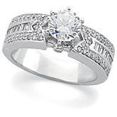 Multistone Diamond Engagement Ring