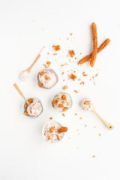 Homemade Churro Ice Cream + Milkshakes - Paper and Stitch