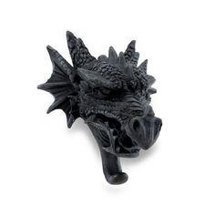 Cast Iron Finish Gothic Dragon Head Sculptural Wall Hook Things2Die4 http://www.amazon.com/dp/B00K0NMFVY/ref=cm_sw_r_pi_dp_.taaub1MAYAZV