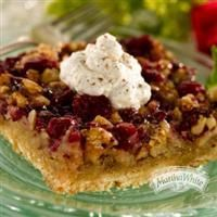 ... whipped cream winter cranberry tart with cinnamon whipped cream from