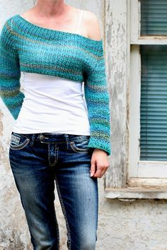 Crop Top Sweater Knitting Pattern CLARITY