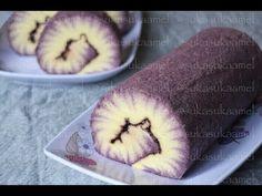 Hurricane Swissroll - Taro | Suka Suka Amel - YouTube Cake Roll Recipes, Dessert Recipes, Easy Food To Make, How To Make Cake, Sponge Cake Roll, Swiss Roll Cakes, Resep Cake, Kolaci I Torte, Homemade Birthday Cakes