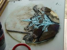 Image result for how to stencil powder on glass fusing with aloe