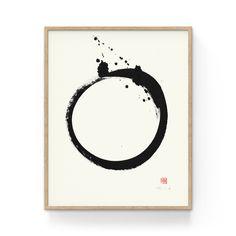 Enso – a Japanese Zen Circle evoking a solar flare. Original painting created with black Sumi ink on rice paper. Carina Nebula, Orion Nebula, Andromeda Galaxy, Helix Nebula, Belfast, Big Ben, Flare Nails, Original Artwork, Original Paintings